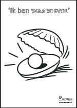 kleurplaat oester